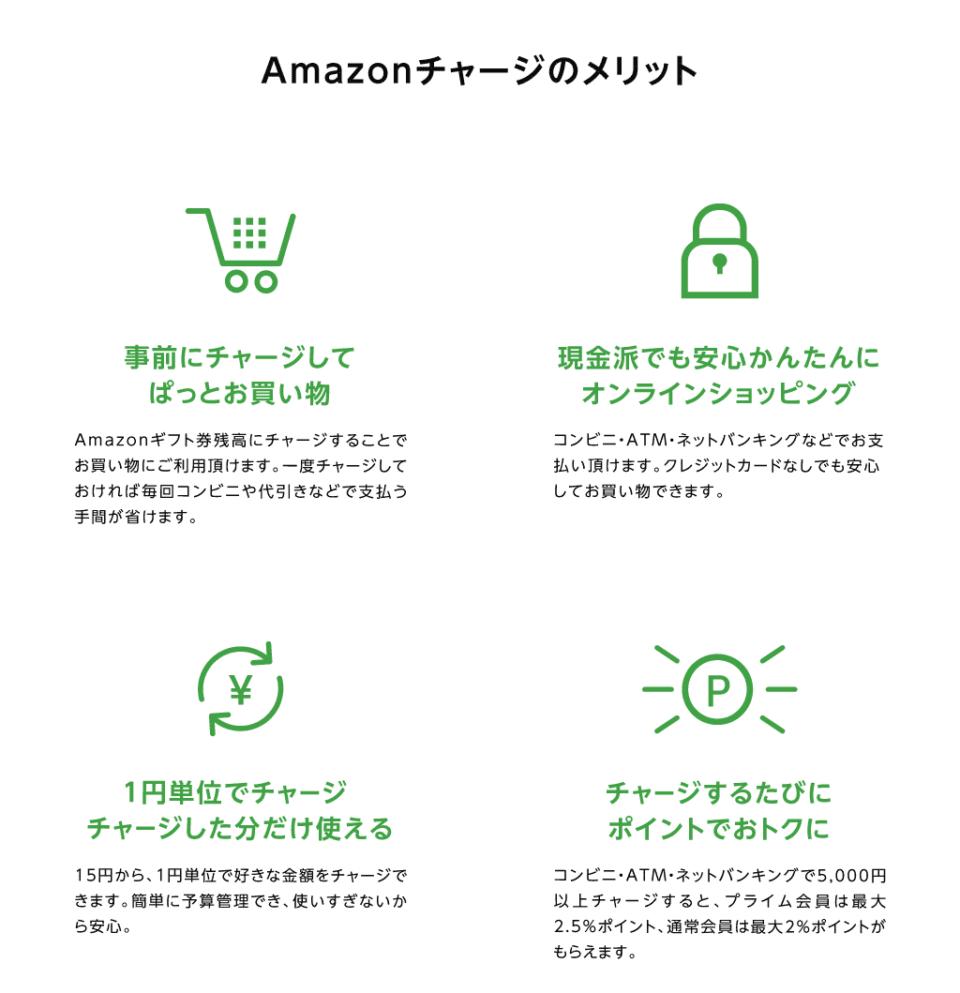 Amazonチャージのメリット
